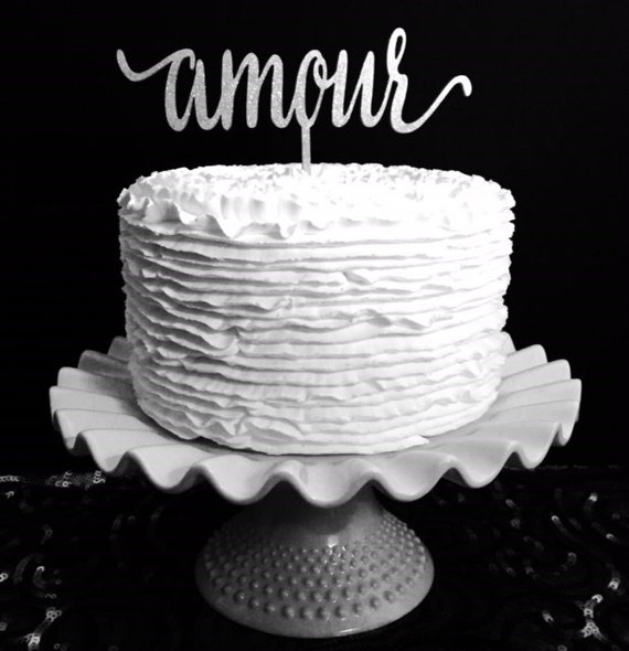 Amour Cake Topper, Wedding Cake Topper, Cake Topper For Wedding, Destination Wedding Cake Topper, Travel Cake Topper, French Cake Topper
