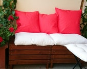 Coral pillow covers, coral decorative pillows, coral throw pillows, red coral cushions, handmade pillow cases, cushion covers made in France