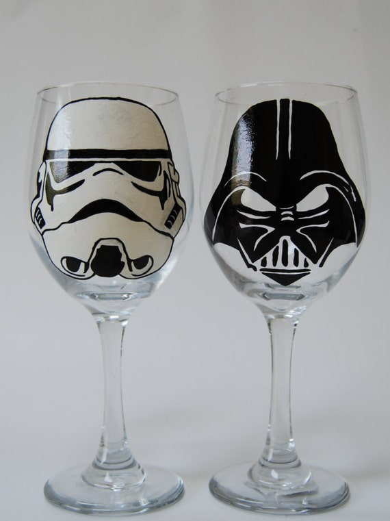 Lego Painted Champagne Glasses