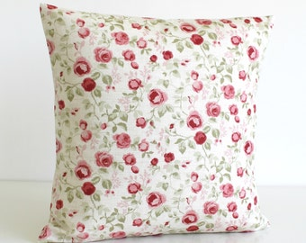 Cottage Chic, Pillow Cover, Floral Pillow Cover, Flower Pillow Sham, 18 Inch Accent Pillow, 18x18 Sofa Pillow, Cushion - Mini Flowers Sage