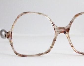 Vintage 70's French Oversized Drop Arm Eyeglasses Sunglasses