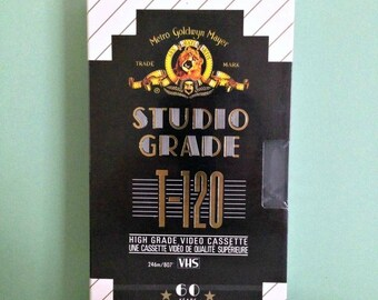 Blank VHS Tape; Still Sealed, Metro-Goldwyn-Mayer Studio Grade T-120 Cassette Tape for a VCR