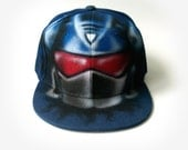 TRANSFORMER Soundwave Snapback Hat | GRAFFITI | Baseball Cap | Autobot | Personalized, Custom NAMED, Initials | Hand painted, Airbrushed hat