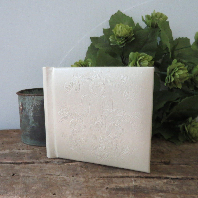 Hallmark Wedding Album: Vintage Wedding Photo Album Hallmark Snapshot White With Doves