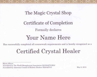 Basic Certified Crystal Healer Course
