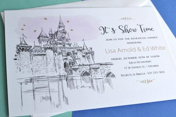 Disneyland Fairytale Cinderellas Castle Wedding Hand