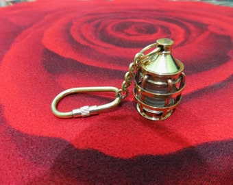 Brass Nautical Lantern Replica Keyring Keychain