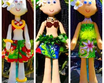 Heirloom Polynesian Dolls: Hula, Tahitian, Samoan & Maori