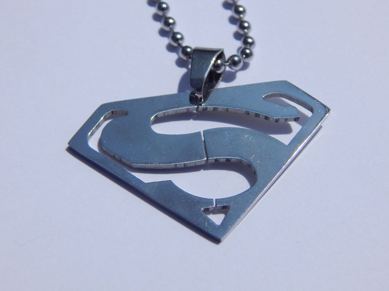 superman necklace steel superman necklace superman pendant