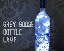 Grey Goose Vodka 700ml Lamp Light Upcycled Bottle Unique Present