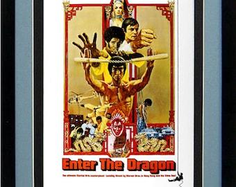 LARGE Bruce Lee Poster Enter the Dragon Framed Movie Poster