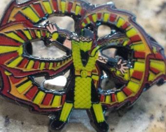 Mortal Flowbat: Scor-poi-n Hat pin
