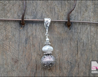Sterling Silver Bali Bead Pendant (SP104)