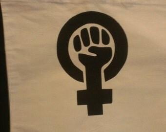 Feminist Symbol Canvas Tote Bag