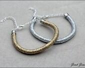 Handmade jewellery / minimalist / silver / gold / rope jewelry / rope bracelet