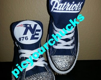 Adult New England Patriots Custom Converse
