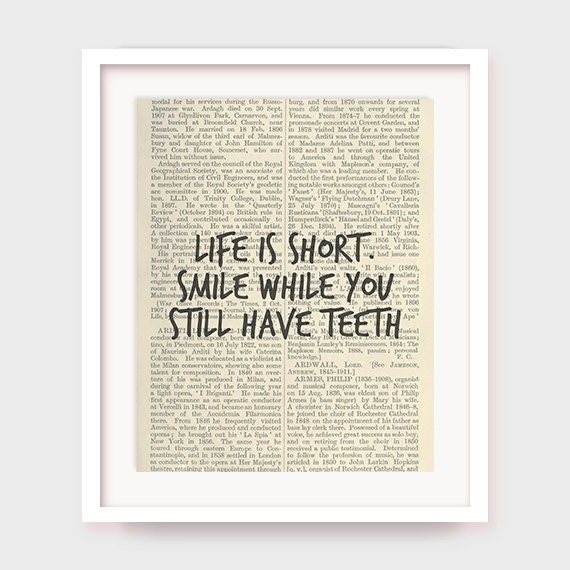 Smile Short Quotes And Sayings: Funny Quote Printable Life Is Short Smile While You Still