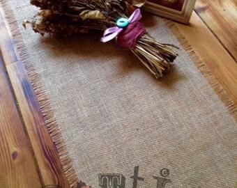 7ft Handmade Rustic Hessian Table Runner