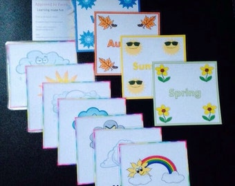 Personalised Weather/seasons flashcards