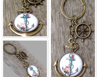 Vintage Style Antique Alloy Metal Nautical Anchor Sea Keyring Keychain 10cm in Length