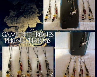 Game of Thrones Cell Phone Charms
