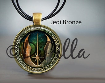 Jedi Order Inspired Pendant in Copper or Bronze with Leather Cord