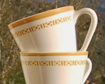 Syracuse China Mug Syralite Diner Cafeteria Coffee Cup Set of 2
