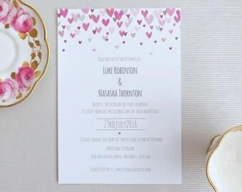 Simply Love Wedding Invitation A5