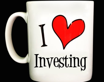 New I Love Investing Gift Mug Cup Present Perfect For Birthday Christmas Can Be Personalised With Any Text Banker Investor Accountant Money