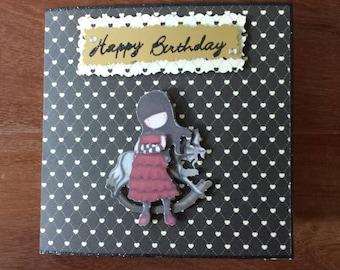 Decoupage birthday card