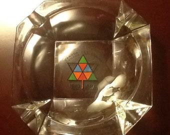 Expo 1967 glass ashtray