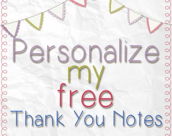 Personalize my free thank you card!