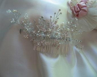 Bridal Jewelry custom crystal Head piece for bridesmaids, bride, prom and special occasions