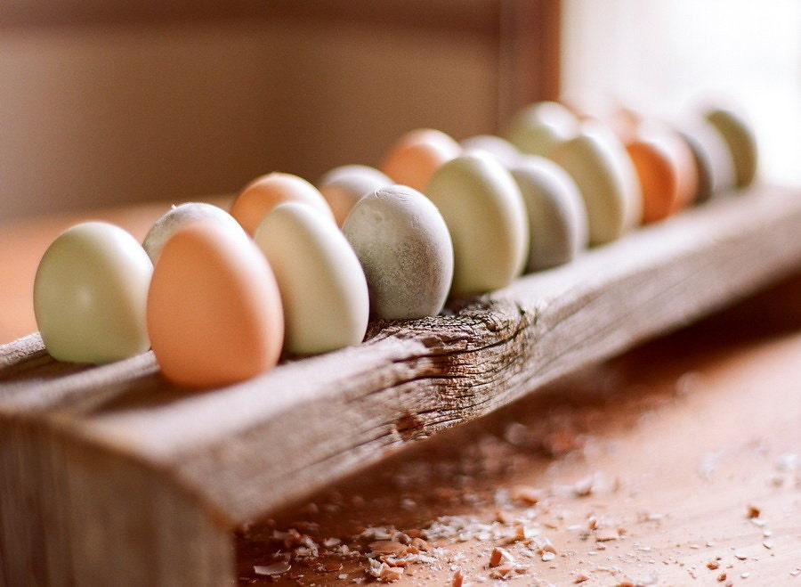 Countertop Egg Holder : Made to order Wooden Egg Holder Barnwood 18 by GraysWoodenKitchen