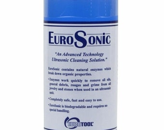 Eurosonic Concentrate Jewelry Cleaner 1/2 Pint for Cleaning Metal, Stones, Jewelry Ultrasonic Cleaner CLNG-850.01