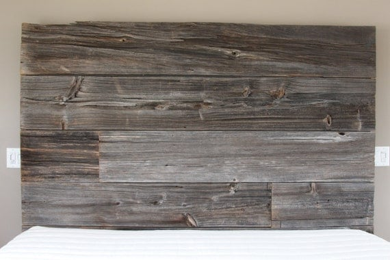 Rustic/Reclaimed King Sized Barn Wood Bed frame and by ...
