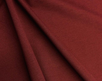 "Ponte De Roma Stretch Knit Fabric Rayon Nylon Spandex Burgundy 60"" Super Soft By the Yard"