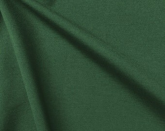 "Ponte De Roma Stretch Knit Fabric Rayon Nylon Spandex Hunter Green 60"" Super Soft By the Yard"