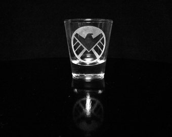 Avengers Shield Logo Shot Glass