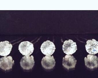 5 diamond hair pins