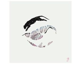 Circle Jump - Digital print - Original illustration - 210x210mm