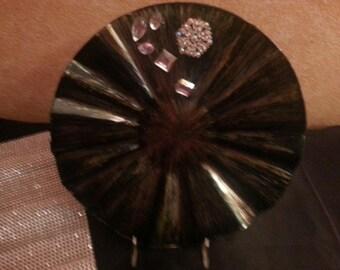 crystal embellished decorative plate