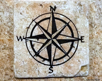Compass Rose Coasters set of four (IN-0104)