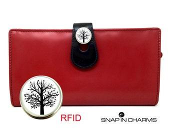 RFID Wallet, Women's wallet, Iphone wallet, Iphone 6 wallet, Iphone 6 leather wallet, red wallet, leather wallet, iPhone case, red clutch