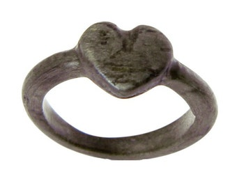 Ready to Ship - Size 7 - Weathered Heart Wood Ring, Heart Ring, Spring, Unique, Bentwood, Wood Jewelry, Rings, Wood Heart, Promise Ring