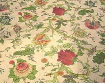 Fabric pure linen flower flowers nature