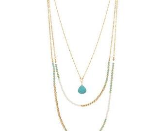 Layered Turquoise Stone