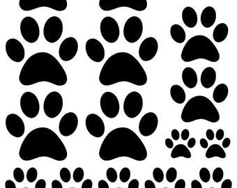 Paw Print Vinyl Etsy - Custom vinyl wall decals dogs