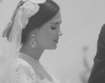 Lace Bridal Cap Veil