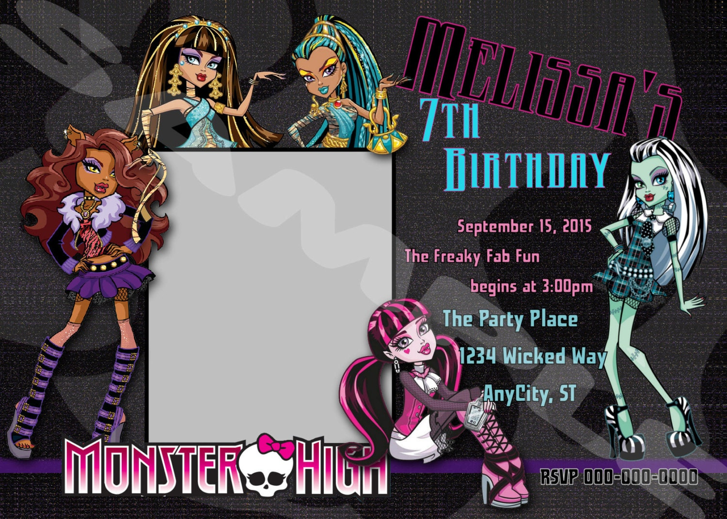 Monster High Party Invitations is good invitations example